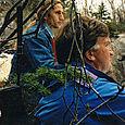 Luc  et Bertrand Morin (réalisateur) Tournage du Vidéoclip Bélugas - Tadoussac 93
