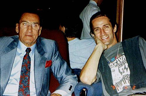 Luc avec son père - Festival de Jazz de Montréal 93